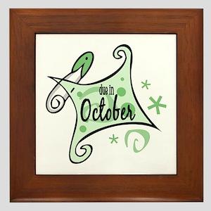 Due in October [Green] Framed Tile